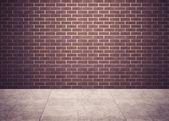Room with brick wall — Zdjęcie stockowe