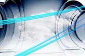 абстрактный синяя линия — Стоковое фото