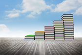 Book steps against sky — Stock Photo