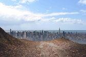 Velké město na obzoru — Stock fotografie