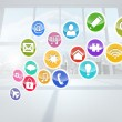Computing application icons — Stock Photo #38462779
