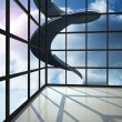 Staircase in blue sky seen through window — Stock Photo #38464241