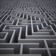 Difficult maze puzzle — Stock Photo