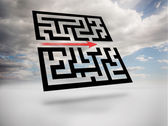 Maze in blue sky — Stock Photo