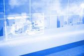 Futurystyczna technologia interfejs — Zdjęcie stockowe