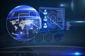 Futuristic technology interface — Stock Photo