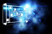Interface abstrata tecnologia — Fotografia Stock