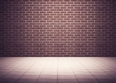 Room with brick wall — Foto Stock