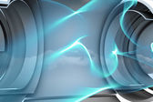 Abstract blue line design — Stock Photo