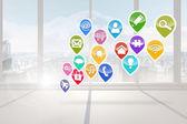 Computing application icons — 图库照片
