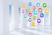 Icone di applicazioni informatiche — Foto Stock