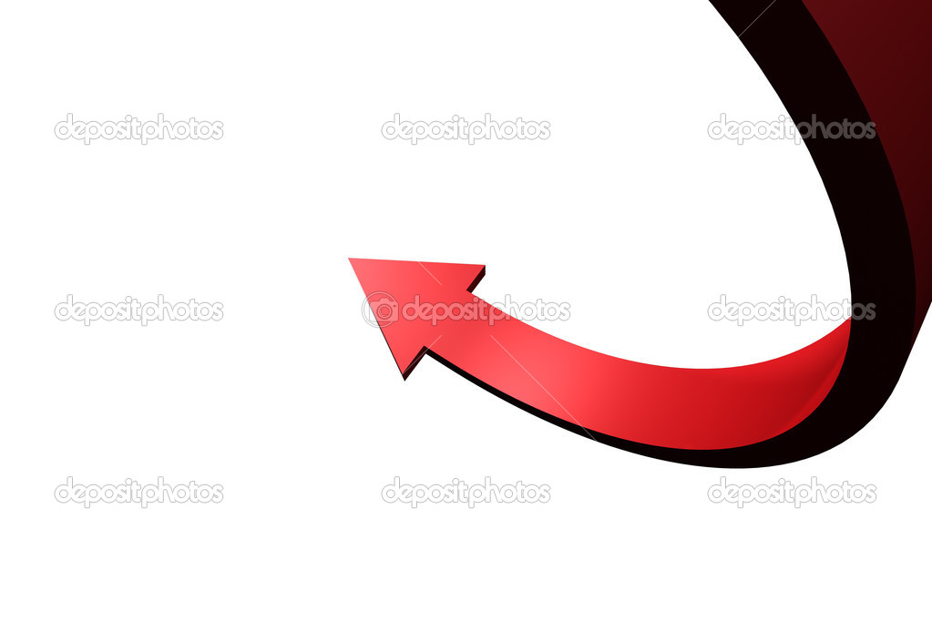 Red Pointing Arrows Red Curved Arrow Pointing up