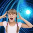 Crazy little girl — Stock Photo #38479477