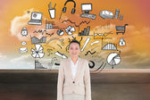 Composite image of smiling asian businesswoman — Stock Photo