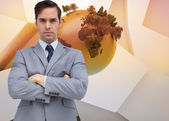 Young businessman looking at camera — Stock Photo