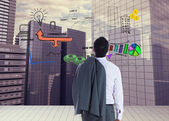Composite image of businessman standing — Stock Photo