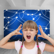 Crazy little girl — Stock Photo