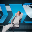 Businessman leaning back in his chair — Stock Photo #38494167