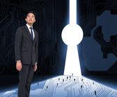 Serious asian businessman — Stock Photo
