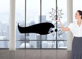Happy elegant businesswoman posing — Stock Photo
