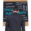 Composite image of process management written on blackboard — Stock Photo #38521189