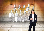 Confident businesswoman standing — Stock Photo