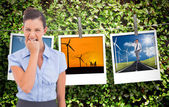 Furious businesswoman looking at the camera — Stock Photo
