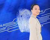 Smiling asian businesswoman — Stock Photo