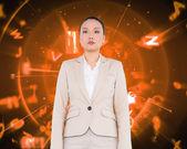 Unsmiling asian businesswoman — Stock Photo