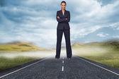 自信を持って女性実業家 — ストック写真