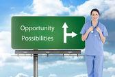 Medical intern wearing short-sleeve uniform — Stock Photo