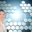 Foto de Stock  : Composite image of smiling asibusinesswoman