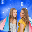 Two young women with shopping bags — Stock Photo #38534163