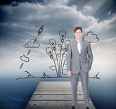 Charismatic businessman standing — Stock Photo