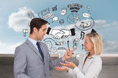 Business people meet each other — Stock Photo