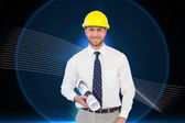 Cheerful young architect posing — Stock Photo