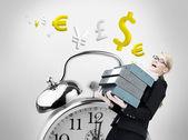 överarbetad affärskvinna — Stockfoto