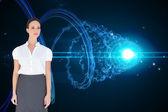 Composite image of content businesswoman posing — Stock Photo