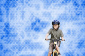 Boy with his bike — Stock Photo