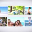 Familys on vacation montage — Stock Video #39163343