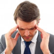 图库视频影像: Businessmgetting headache
