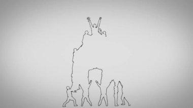 Teamwork animation — Stock Video