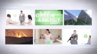 Environmentalism montage at home and in business — Stock Video
