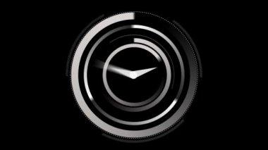 White clock ticking — Stock Video