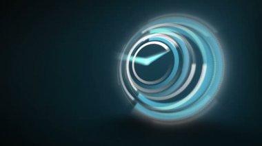 Blue clock ticking very fast — Stock Video