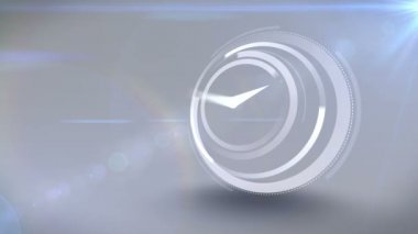 White clock ticking at speed — Stock Video