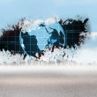 Stock Photo: Splash showing earth graphic