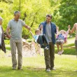 Full length of an extended family in park — Stock Photo
