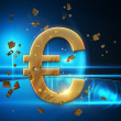 Stock Photo: Golden euro sign
