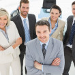 Stock Photo: Confident business team in office